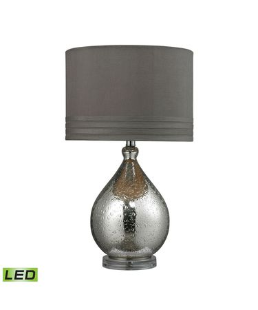 Shown in Mercury Plating finish and Grey Taupe Faux Silk shade